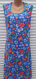 Платье без рукава 56 размер Анютки на синем, фото 3