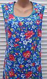 Платье без рукава 56 размер Анютки на синем, фото 4