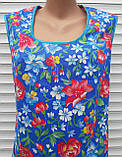 Платье без рукава 56 размер Анютки на синем, фото 9