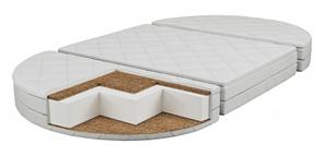 Матрас детский в овальную кроватку Transformer Lux(120х70х10см) Кококс-поролон-кокос