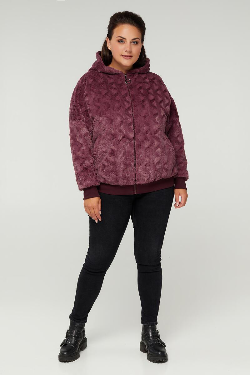 Р. 48-64 Жіноча куртка з мокрого хутра батал