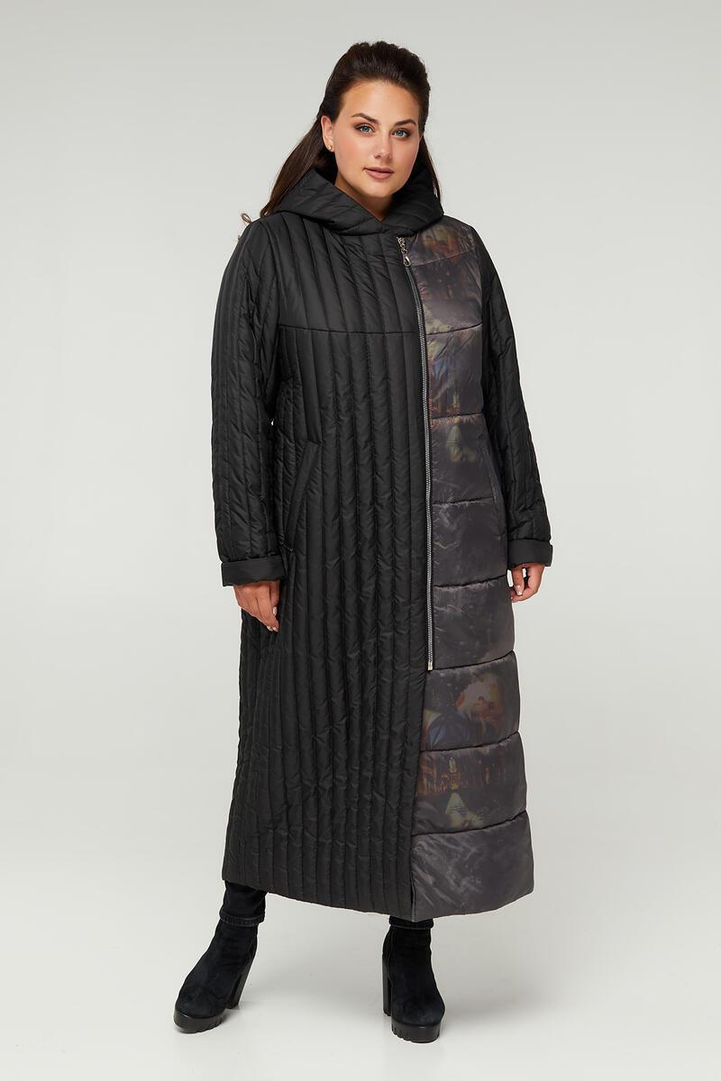 Р. 48- 62 Длинное стеганное пальто 893 больших размеров