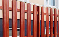 Евроштакетник для секции забора 2500мм шириной 2000мм высотой с односторонней зашивкой, фото 1