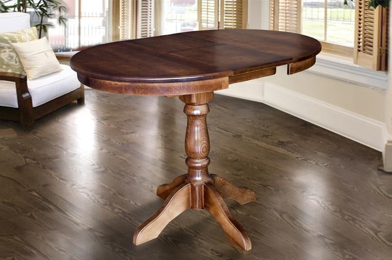 Стол обеденный Чумак 2 темный орех (800(+300)*800 (раскладной)