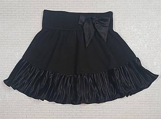 Черная юбка с бантом для девочки. На рост 110 116  122