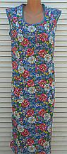 Платье без рукава 52 размер Цветы