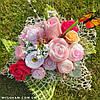 Букет из мыла ручной работы, мыльный букет, композиция розы из мыла, неувядающие цветы, фото 5