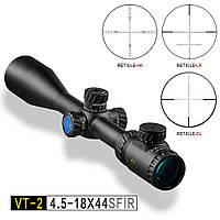 Приціл DISCOVERY VT-2 4.5-18x44 SFIR HK  (Mil Dot, калібр ДО.308WIN)