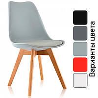 Современный стул из натурального дерева (Бук) Bonro B-487 кресло для кухни с мягким сидением, сучасний стілець, фото 1