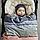 Elodie - Детская зимняя шапка Winter Bonnet, цвет Juniper Blue, 3-6 мес, фото 2