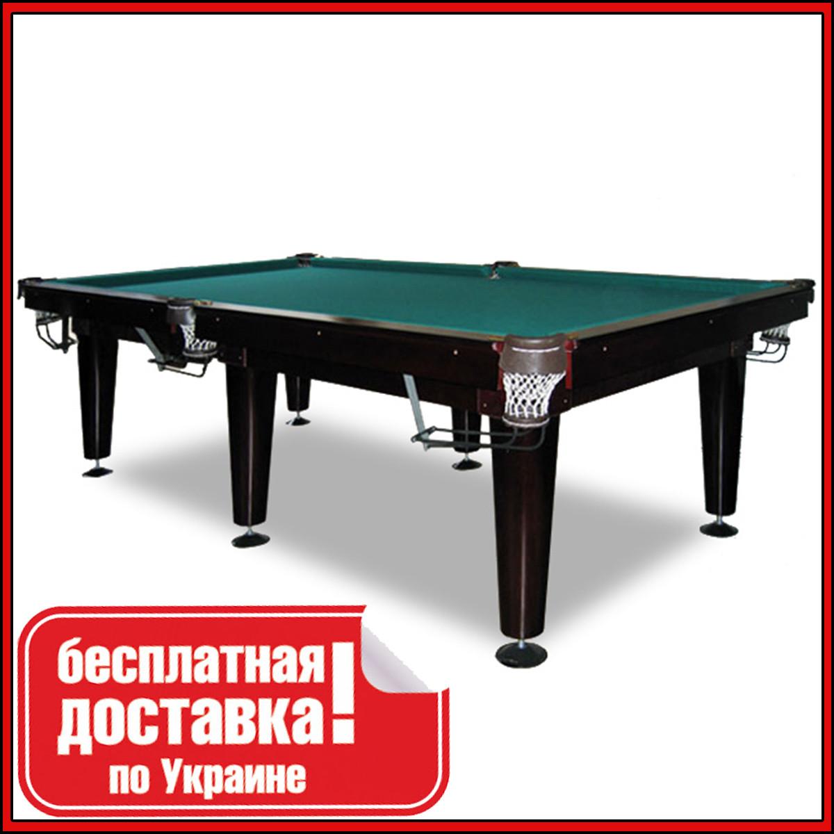 Більярдний стіл для пулу КЛАСИК 9 футів ЛДСП 2.6 м х 1.3 м з натурального дерева