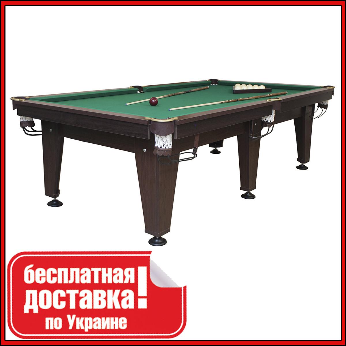 Бильярдный стол для пула ОСКАР 10 футов ЛДСП 2.8 м х 1.4 м из натурального дерева
