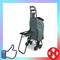 Хозяйственная тележка для продуктов - ручная тачка на колесиках, Цвет №22 кравчучка с сумкой, фото 1