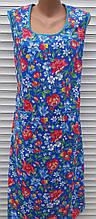 Платье без рукава 52 размер Анютки на синем
