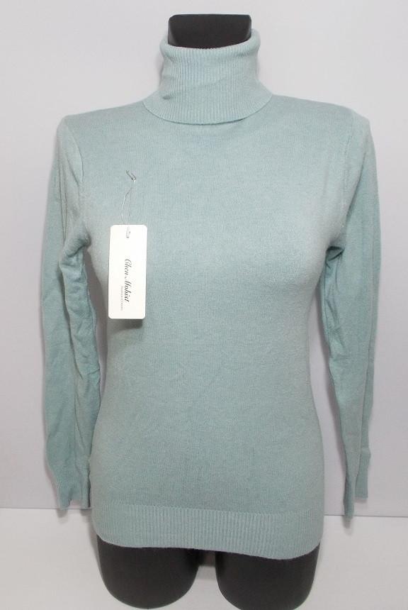 Гольф женский шерстяной отличное качество №6675 размер 40-48 зеленый
