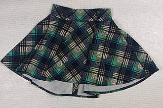 Зеленая юбка в клетку для девочки. На рост 128 140 146 см . Украина 146