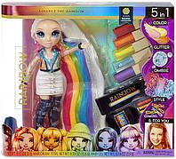 Кукла Rainbow High Hair Studio Рейнбоу Хай Стильная прическа радуга Rainbow Surprise с аксессуарами 569329