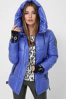 Женская зимняя короткая голубая куртка 8290
