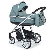 Детская универсальная коляска 2 в 1 Espiro Next 2.1 Melange 2020 05 Turqoise Island