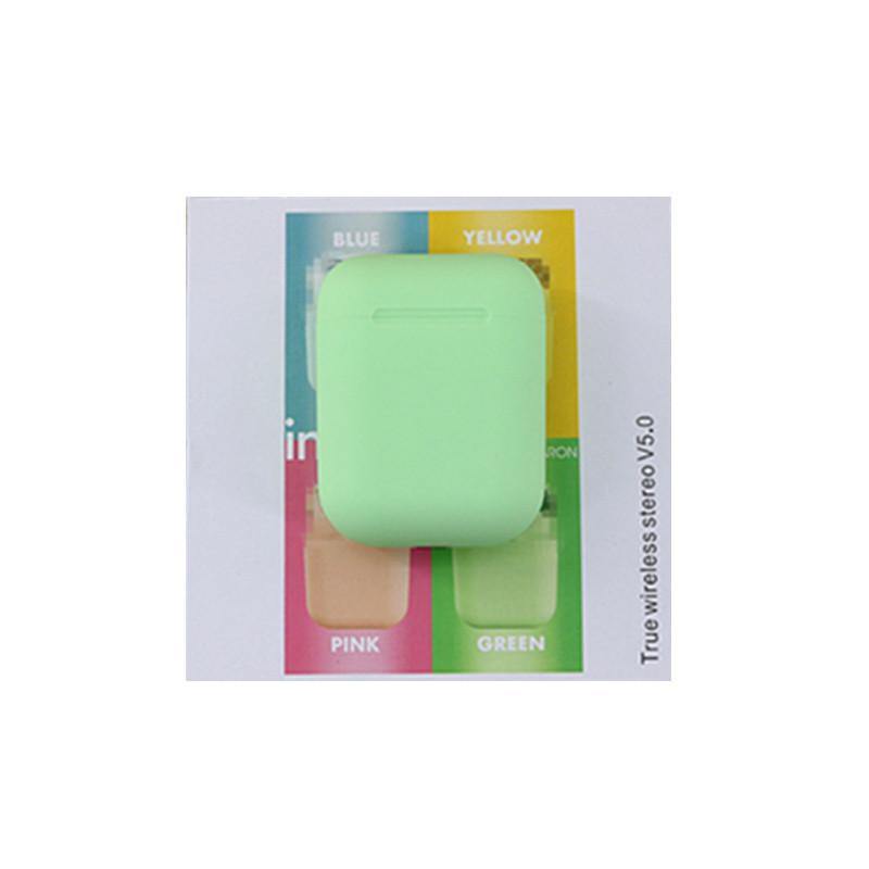 Бездротові сенсорні салатневые навушники inPods 12 simple TWS блютуз гарнітура
