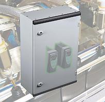 Щит ящик щиток металлический 400х300х200 с монтажной панелью IP66 распределительный управления автоматизации
