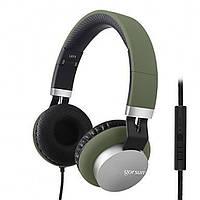 Проводные Наушники Gorsun GS-789 с микрофоном Тёмно-зелёные