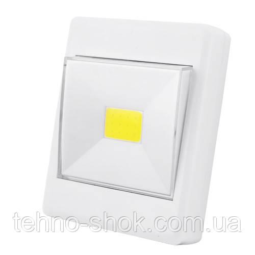 Подсветка универсальная в виде выключателя KL1701/305-COB, магнит, липучка, 3хAAA ночник