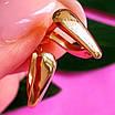 Нежные золотые серьги без камней - Золотые серьги хаги - Гладкие золотые серьги, фото 3