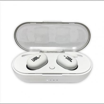 Беспроводные ваккумные наушники Bluetooth TWS JBL 4 Белые