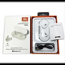 Беспроводные ваккумные наушники Bluetooth TWS JBL 4 Белые, фото 3