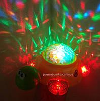 Disco черепашка! ездит,муз,свет,проектор,музыкальная черепашка, фото 1