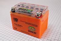 Аккумулятор 4Аh YTX4L-BS (гелевый, оранж) 113/70/85мм с ИНДИКАТОРОМ
