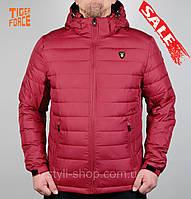 Теплая зимняя мужская куртка Tiger Force (50217-2), куртки мужские, спортивная мужская куртка, bordo