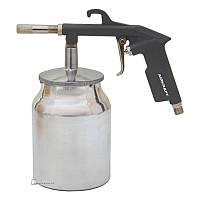 Пистолет пескоструйный пневматический нижний металлический бачок AIRKRAFT (PS-4A)
