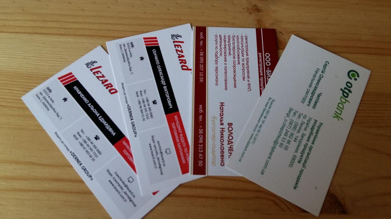 Бухгалтерское обслуживание визитка сколько времени регистрация ооо