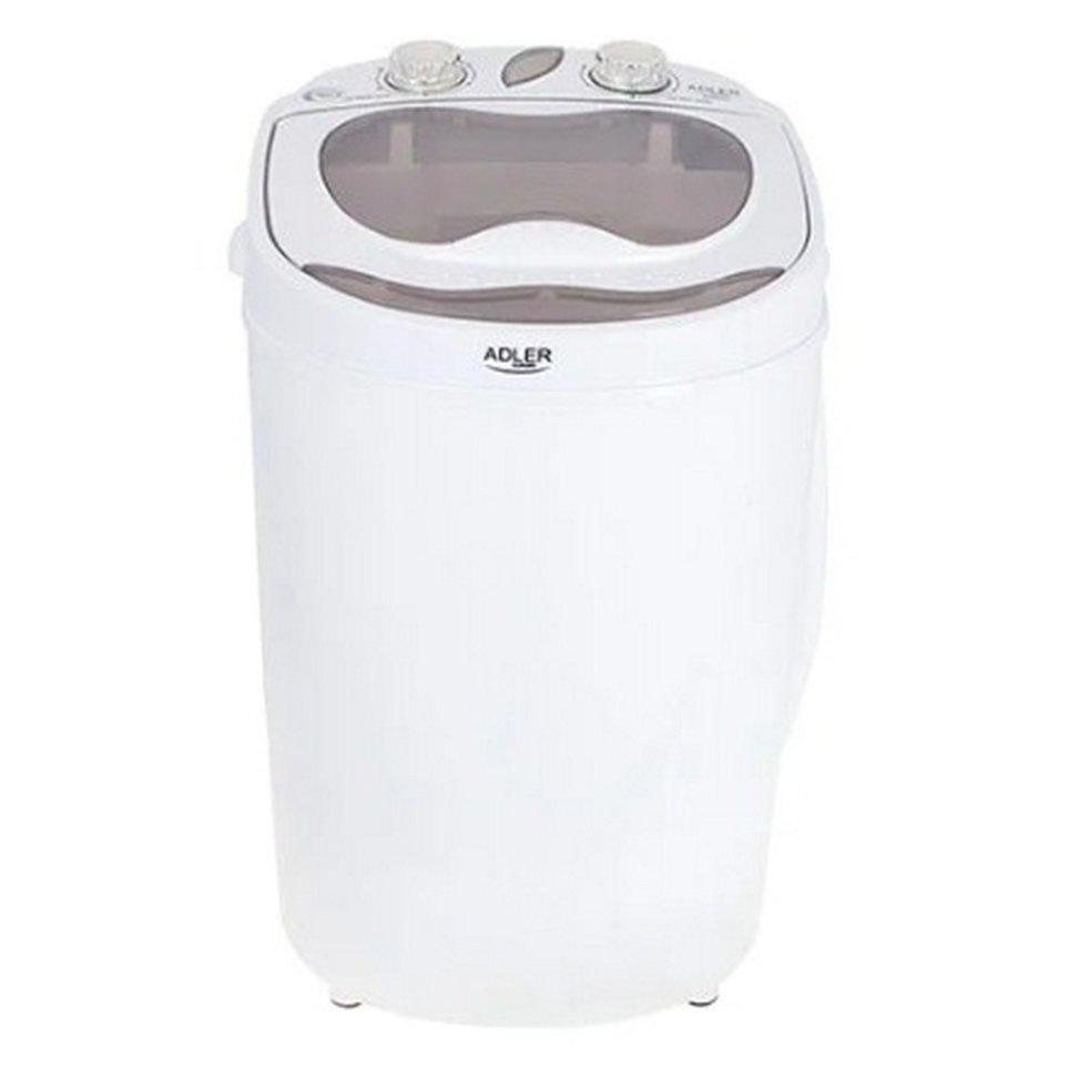Мобильная мини стиральная машинка Adler AD 8055 с центрифугой, для малых загрузок