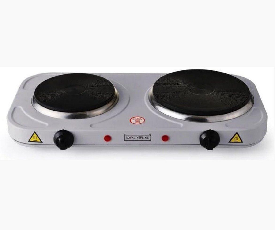Електрична кухонна плита Royalty Line DKP-2500.15 на дві конфорки 1000 + 1500 Вт