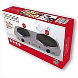 Електрична кухонна плита Royalty Line DKP-2500.15 на дві конфорки 1000 + 1500 Вт, фото 4