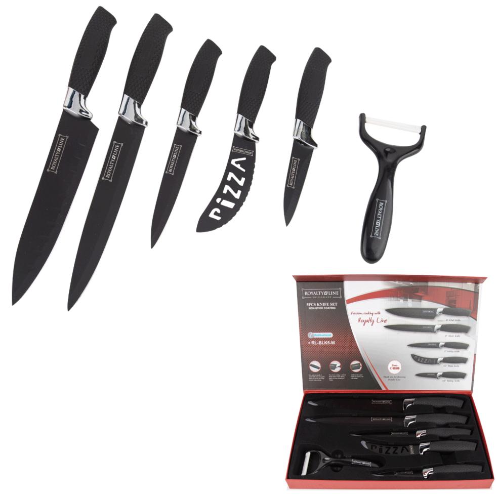 Набор ножей 6 предметов Royalty Line RL-BLK5-W