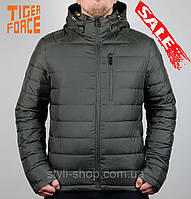 Теплая зимняя мужская куртка Tiger Force (70363-2), куртки мужские, спортивная мужская куртка, army green