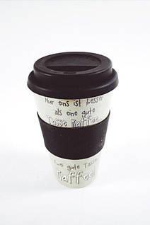 Кофейная кружка to go becher 350ml bambus Tasse Kaffee