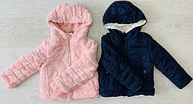 Куртка для девочки, двухсторонняя, Венгрия, Taurus, арт. 0027