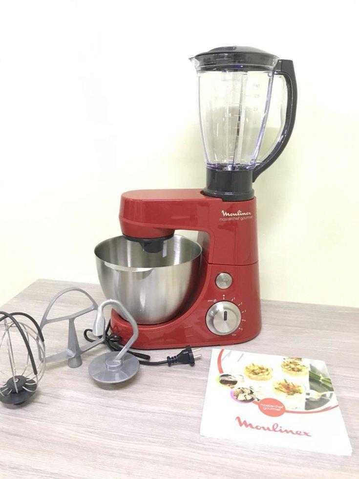 Кухонний комбайн Moulinex Masterchef Gourmet Rouge потужність 900W, чаша 4L, блендер 1,5 L