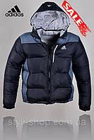 Теплая зимняя мужская куртка Adidas (Адидас) (9921-5), куртки мужские, спортивная мужская куртка, Черный