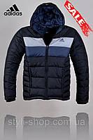 Зимняя мужская куртка Adidas (Адидас) (1306-1), куртки мужские, спортивная мужская куртка, Черный