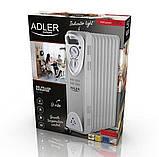 Обігрівач масляний Adler AD 7808 на 9 секцій потужність 2000w, фото 6