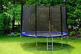 Батут садовий Fun Fit спортивний 8 (244-252 cm) 252 см з подушкою і сходами, фото 5