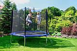 Батут садовий Fun Fit спортивний 8 (244-252 cm) 252 см з подушкою і сходами, фото 6