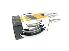 Набор сковородок Royalty Line RL-FM3 Silver 3 шт с мраморным покрытием без крышек