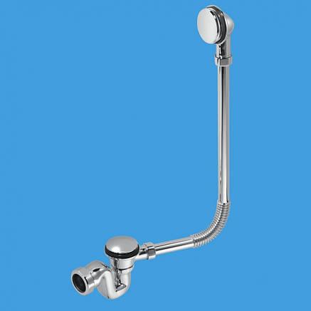 Сифон внешний декоративный для ванн ТМ McAlpine BRASSTRAP-50-CP слив/перелив, фото 2